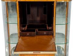 Jules Deroubaix Art Deco Burl Sandalwood Wood and Shagreen Secretaire Cabinet by Jules Deroubaix - 2135367