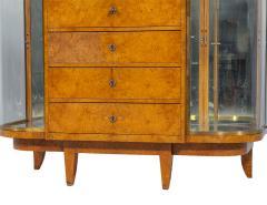 Jules Deroubaix Art Deco Burl Sandalwood Wood and Shagreen Secretaire Cabinet by Jules Deroubaix - 2135368