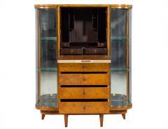 Jules Deroubaix Art Deco Burl Sandalwood Wood and Shagreen Secretaire Cabinet by Jules Deroubaix - 2135369