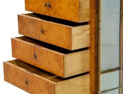 Jules Deroubaix Art Deco Burl Sandalwood Wood and Shagreen Secretaire Cabinet by Jules Deroubaix - 2135370