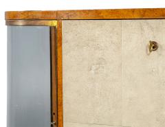 Jules Deroubaix Art Deco Burl Sandalwood Wood and Shagreen Secretaire Cabinet by Jules Deroubaix - 2135371