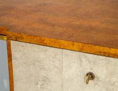 Jules Deroubaix Art Deco Burl Sandalwood Wood and Shagreen Secretaire Cabinet by Jules Deroubaix - 2135372