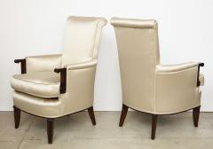 Jules Leleu A Pair of Art Deco Mahogany Chairs by Jules Leleu - 1014608