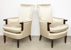Jules Leleu A Pair of Art Deco Mahogany Chairs by Jules Leleu - 1014609