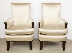 Jules Leleu A Pair of Art Deco Mahogany Chairs by Jules Leleu - 1014611