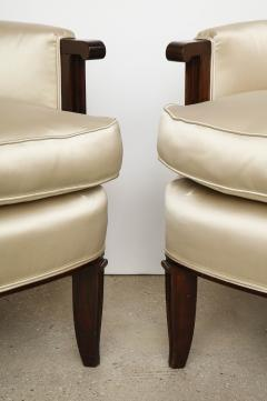 Jules Leleu A Pair of Art Deco Mahogany Chairs by Jules Leleu - 1014612