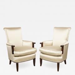 Jules Leleu A Pair of Art Deco Mahogany Chairs by Jules Leleu - 1015335