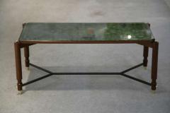 Jules Leleu Beechwood and Eglomise Rectangular Cocktail Table - 755455