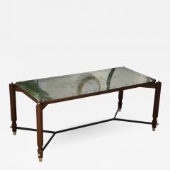 Jules Leleu Beechwood and Eglomise Rectangular Cocktail Table - 756038