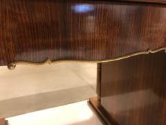 Jules Leleu Elegant art deco mahogany and gilt bronze desk by Jules Leleu - 1184286