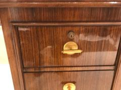 Jules Leleu Elegant art deco mahogany and gilt bronze desk by Jules Leleu - 1184288