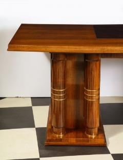 Jules Leleu Elegant art deco mahogany and gilt bronze desk by Jules Leleu - 1184290