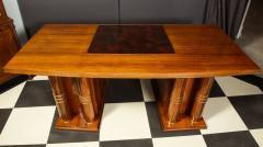 Jules Leleu Elegant art deco mahogany and gilt bronze desk by Jules Leleu - 1184292