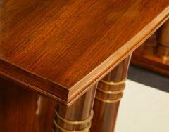 Jules Leleu Elegant art deco mahogany and gilt bronze desk by Jules Leleu - 1184293