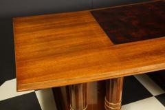 Jules Leleu Elegant art deco mahogany and gilt bronze desk by Jules Leleu - 1184294