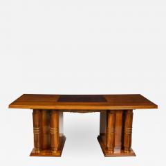 Jules Leleu Elegant art deco mahogany and gilt bronze desk by Jules Leleu - 1184874