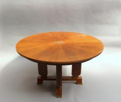 Jules Leleu FINE FRENCH ART DECO EXTENDABLE ROUND DINING TABLE BY JULES LELEU - 977341