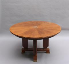 Jules Leleu FINE FRENCH ART DECO EXTENDABLE ROUND DINING TABLE BY JULES LELEU - 977343