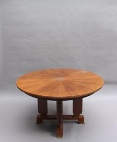 Jules Leleu FINE FRENCH ART DECO EXTENDABLE ROUND DINING TABLE BY JULES LELEU - 977346