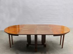 Jules Leleu FINE FRENCH ART DECO EXTENDABLE ROUND DINING TABLE BY JULES LELEU - 977348