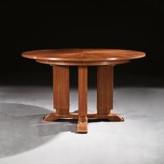 Jules Leleu FRENCH WALNUT GUERIDON EXTENDABLE DINING TABLE C 1930 SIGNED JULES LELEU - 1875769