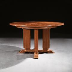 Jules Leleu FRENCH WALNUT GUERIDON EXTENDABLE DINING TABLE C 1930 SIGNED JULES LELEU - 1875793