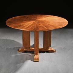 Jules Leleu FRENCH WALNUT GUERIDON EXTENDABLE DINING TABLE C 1930 SIGNED JULES LELEU - 1875798