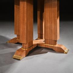 Jules Leleu FRENCH WALNUT GUERIDON EXTENDABLE DINING TABLE C 1930 SIGNED JULES LELEU - 1875799