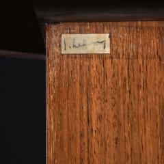 Jules Leleu FRENCH WALNUT GUERIDON EXTENDABLE DINING TABLE C 1930 SIGNED JULES LELEU - 1875822