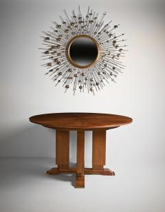 Jules Leleu FRENCH WALNUT GUERIDON EXTENDABLE DINING TABLE C 1930 SIGNED JULES LELEU - 1875836