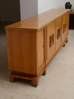 Jules Leleu Fine French Modern Fruitwood Sideboard or Buffet by Jules Leleu - 391477