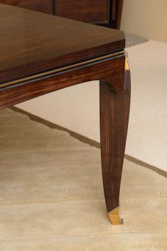 Jules Leleu Fine Late Art Deco Ebony de Macassar Dining Table by Jules Leleu - 41192
