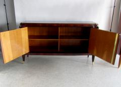 Jules Leleu French Art Deco Ebony de Macassar Marquetry inlaid Bronze Mounted Credenza - 1239765