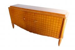 Jules Leleu Important French Bronze Walnut Parquetry Mother of Pearl Credenza Jules Leleu - 1126543