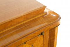 Jules Leleu Important French Bronze Walnut Parquetry Mother of Pearl Credenza Jules Leleu - 1126546