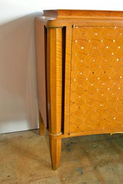 Jules Leleu Important French Bronze Walnut Parquetry Mother of Pearl Credenza Jules Leleu - 1126548