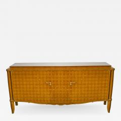 Jules Leleu Important French Bronze Walnut Parquetry Mother of Pearl Credenza Jules Leleu - 1165444