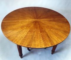 Jules Leleu Important French Modern Fruitwood Bronze Extension Dining Table Jules Leleu - 1342439