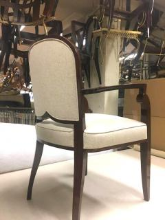 Jules Leleu Jules Leleu Chicest Rare Set of Six Dining Chairs Newly Covered - 374097