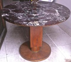 Jules Leleu Jules Leleu Signed Coffee Table with a Superb Marble Top - 423148