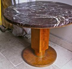Jules Leleu Jules Leleu Signed Coffee Table with a Superb Marble Top - 423149