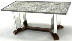 Jules Leleu Jules Leleu documented mirrored coffee table - 1525950
