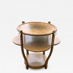 Jules Leleu Jules Leleu early art deco superb refined 2 tier walnut burl coffee table - 1449523