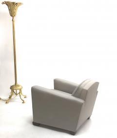 Jules Leleu Jules Leleu pair of refined club chairs fully restored - 832334