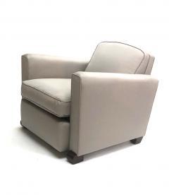 Jules Leleu Jules Leleu pair of refined club chairs fully restored - 832338