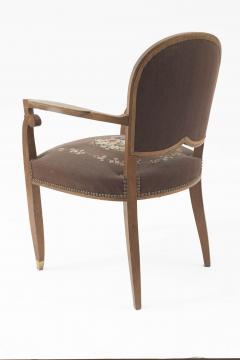 Jules Leleu Pair Of Leleu French Art Deco Arm Chairs   722292