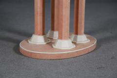 Jules Leleu Pair of stool by Jules Leleu in pink Galuchat French Art Dec 1930 - 1340577