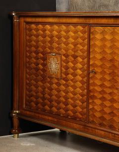 Jules Leleu Walnut Marquetry Sideboard Signed Jules Leleu 1945 - 1547121