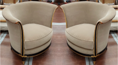 Jules Leleu rarest documented early Art Deco refined pair of chairs - 1636527