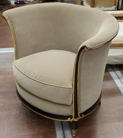 Jules Leleu rarest documented early Art Deco refined pair of chairs - 1636528